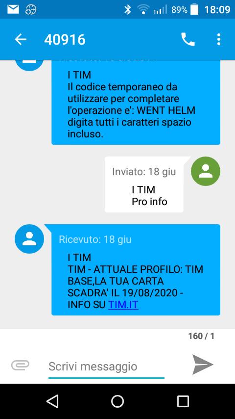 COME CONOSCERE SCADENZA SIM TIM