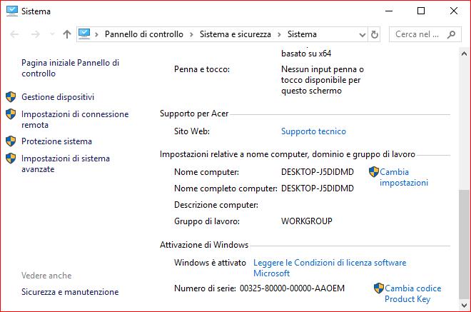 COME VISUALIZZARE NOME DEL COMPUTER